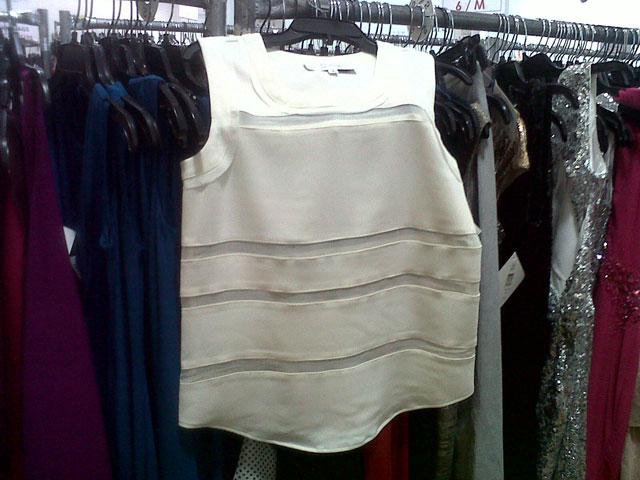 Badgley Mischka white sleeveless top