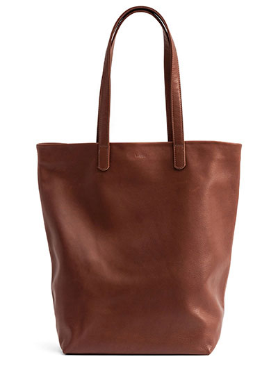The leather basic tote is $89 (orig. $160)