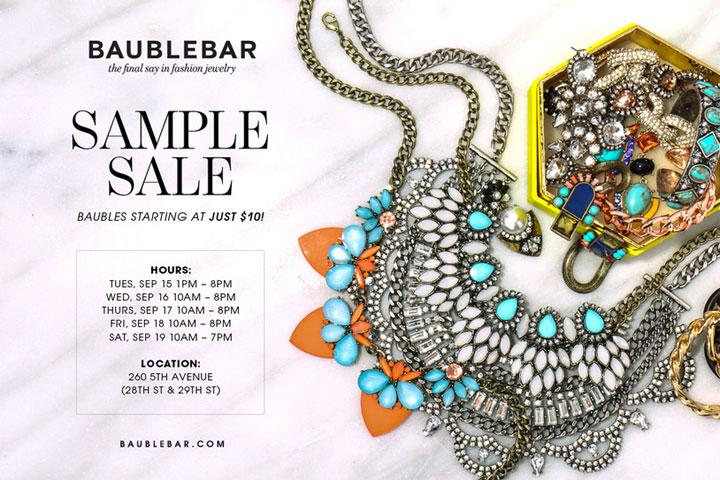 Baublebar Sample Sale