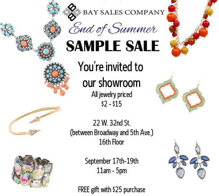 Bay Sales Company Sample Sale