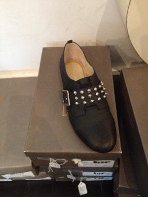 Be & D Savile Black Buckle Shoes ($50)