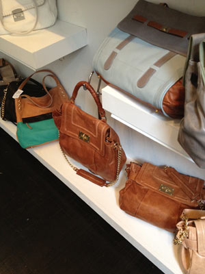 Be & D rust color leather bag in two different sizes ($200)