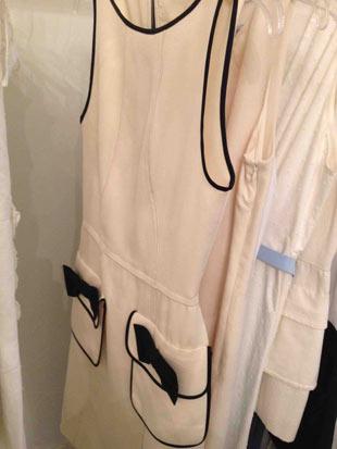Behnaz Sarafpour Cream with Black Bows Short Dress ($175)