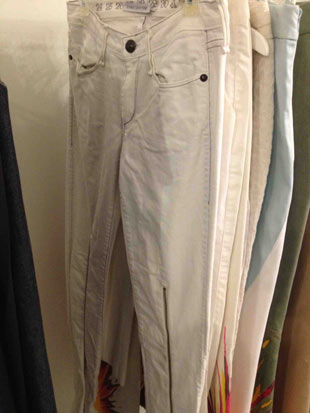 Behnaz Sarafpour White Denim Pants with Zippers ($75, size 29)