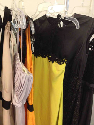 Behnaz Sarafpour Long Yellow with a Black Crochet Neck ($250)