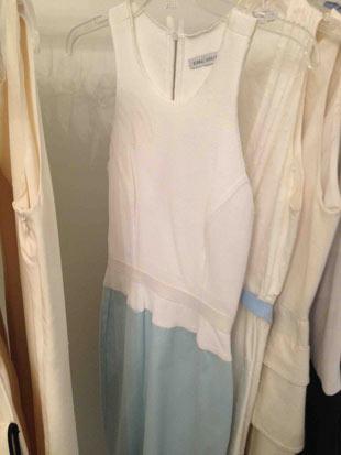 Behnaz Sarafpour White and Light Blue Short Dress ($175)