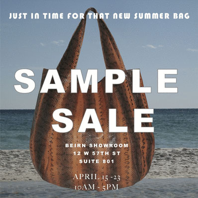Beirn Sample Sale