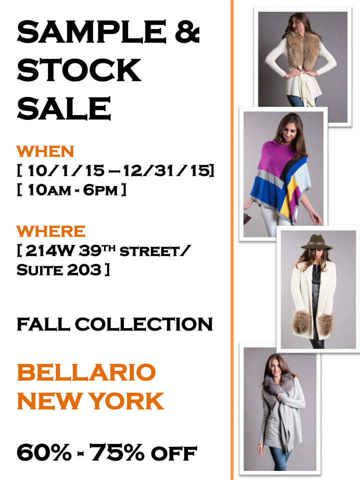 Bellario New York Sample & Stock Sale