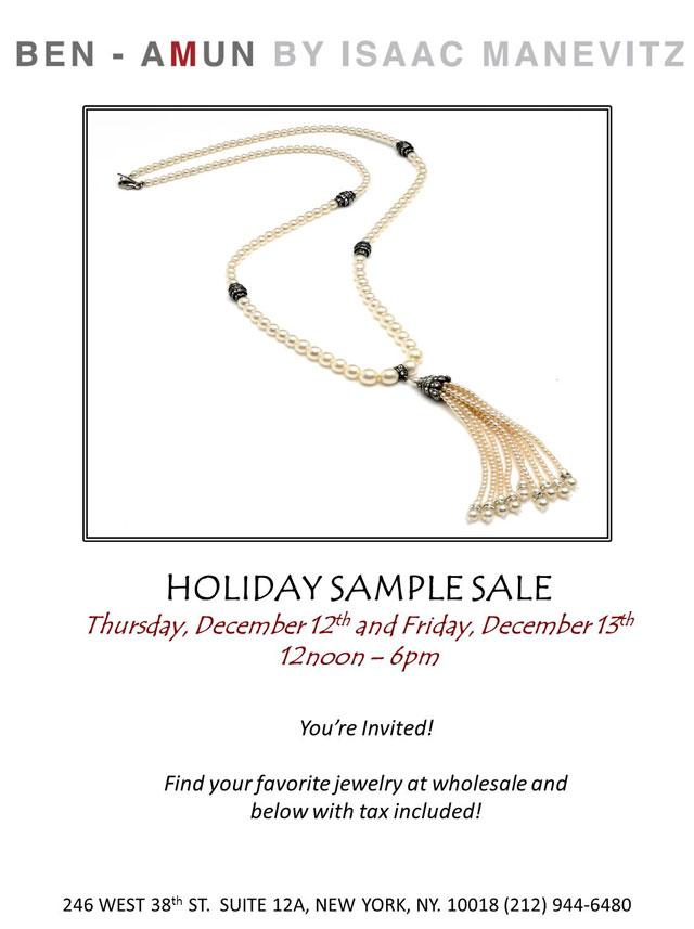 Ben-Amun Holiday Sample Sale