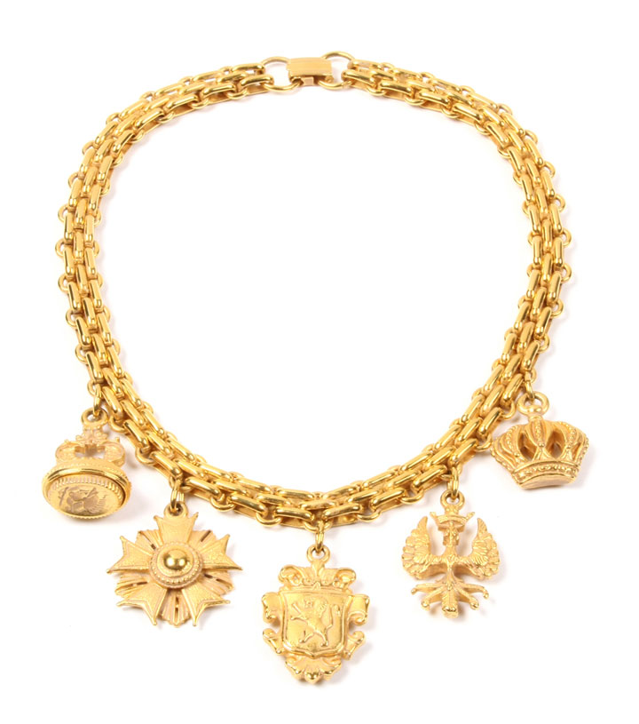 Ben Amun Regalia Gold Charm Necklace from the current season: $110 (orig. $370)