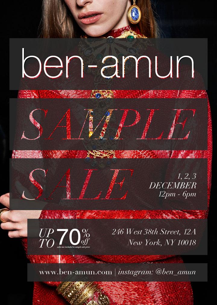 Ben-Amun Sample Sale