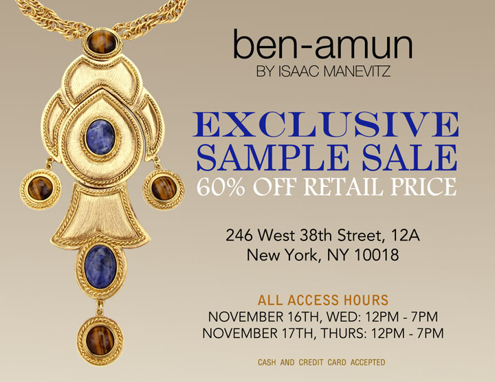 Ben-Amun Sample Sale