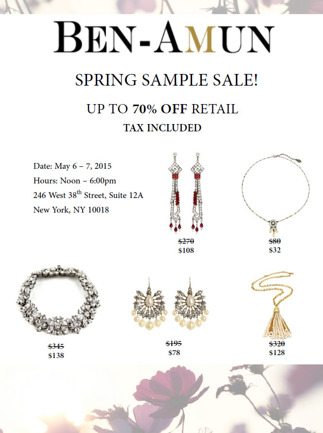 Ben-Amun Spring Sample Sale