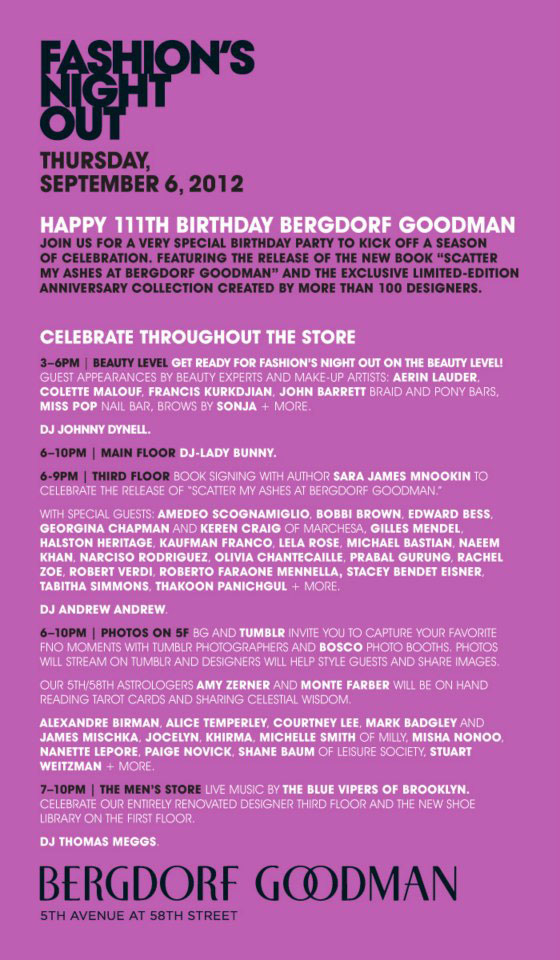 Bergdorf Goodman Fashion's Night Out Event