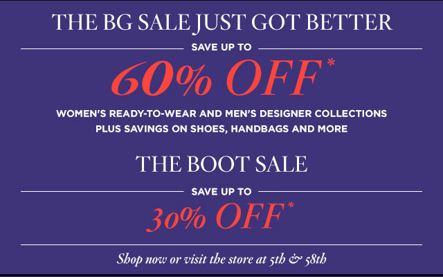 Bergdorf Goodman Retail Sale