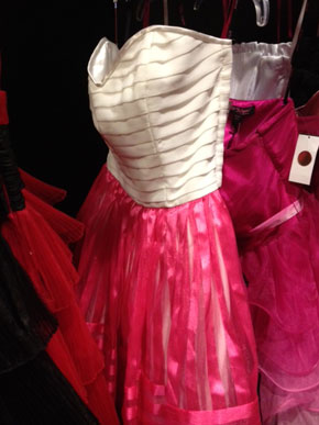 Hot Pink & White Strapless Day Dress in Silm ($105)