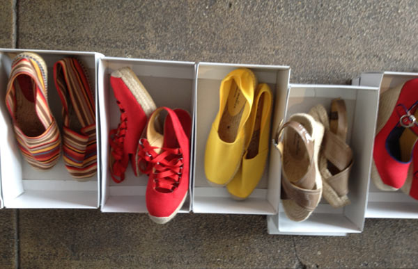 Pitones in Gold ($100), Bronze Gruesas ($100), Charco Natelis ($100), and her multicolored Troupes ($100)
