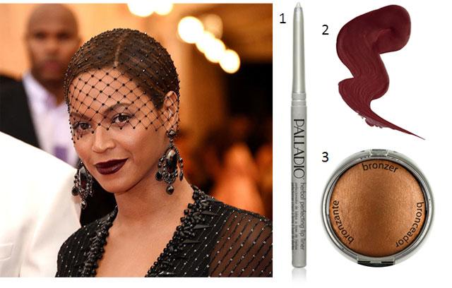 Beyoncé's Gothic Lip and Bronzed Eye