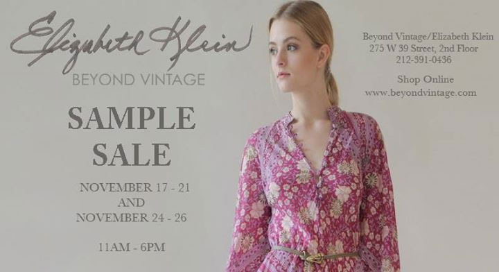 Beyond Vintage Sample Sale