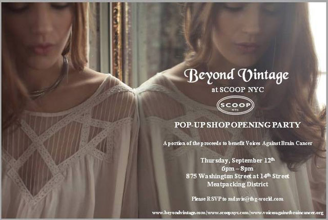 Beyond Vintage at Scoop NYC Pop-up Shop Opening Party