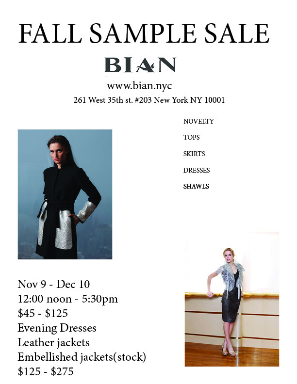 Bian Sample Sale