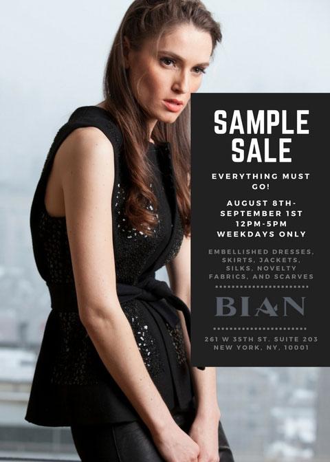 Bian Sample Sale