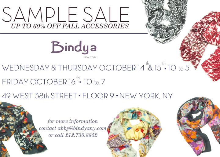 Bindya NY Sample Sale