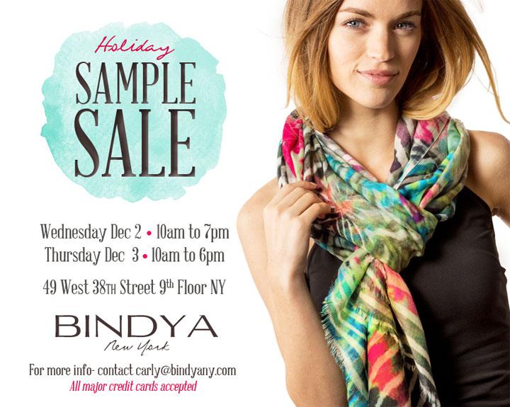 Bindya NY Holiday Sample Sale
