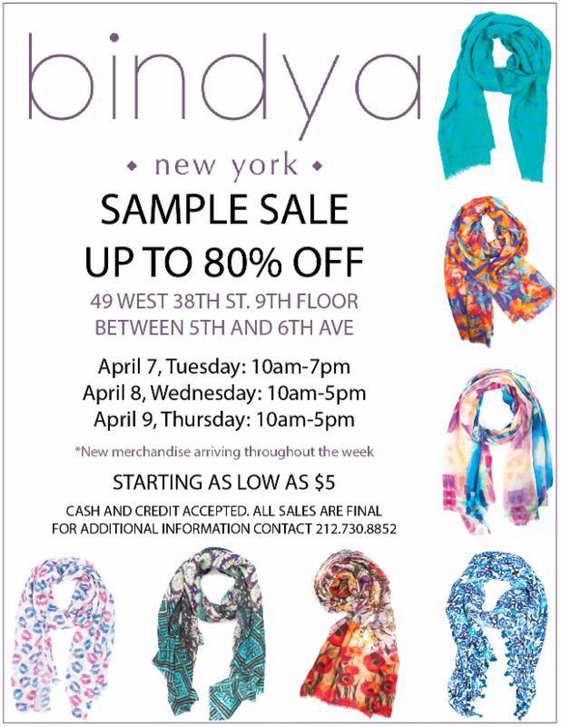 Bindya NY Scarves & Accessories New York Sample Sale ...