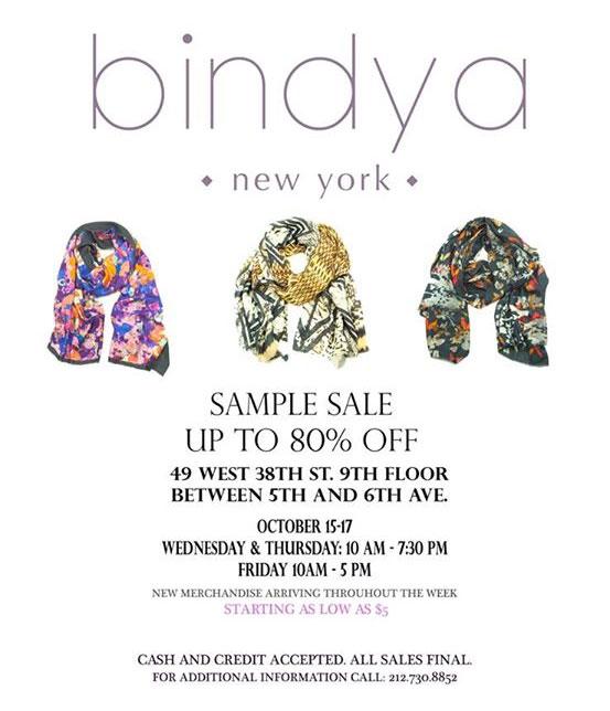 Bindya NY Scarves New York Sample Sale - TheStylishCity.com