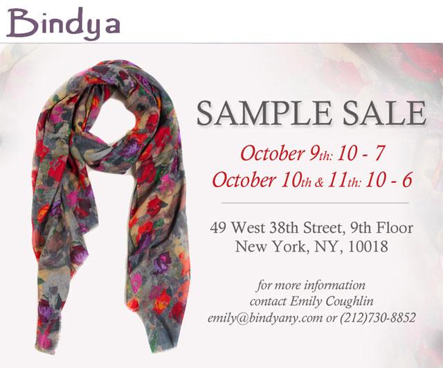Bindya NY and Lulla Sample Sale