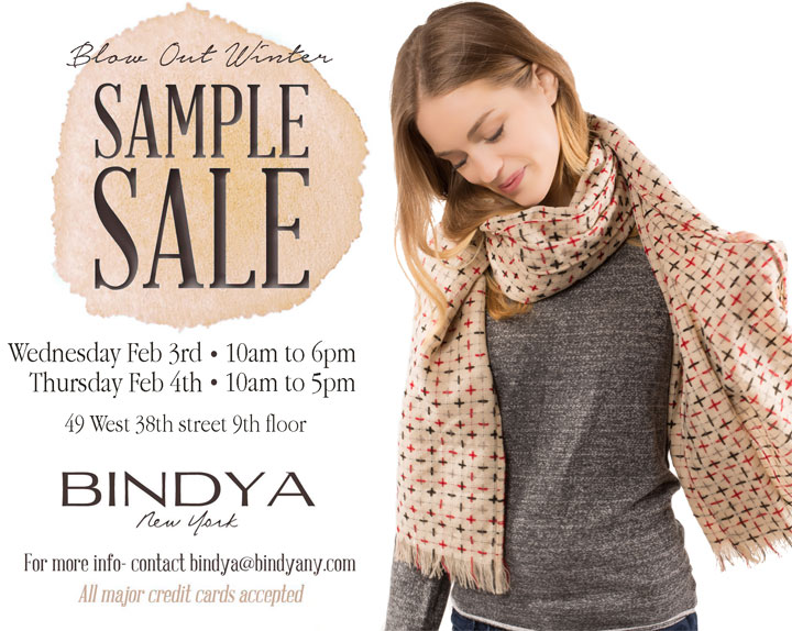 Bindya Winter Sample Sale