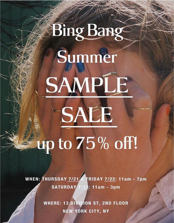 Bing Bang Sample Sale