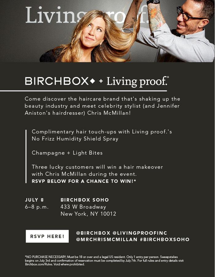 Birchbox + Living Proof Event