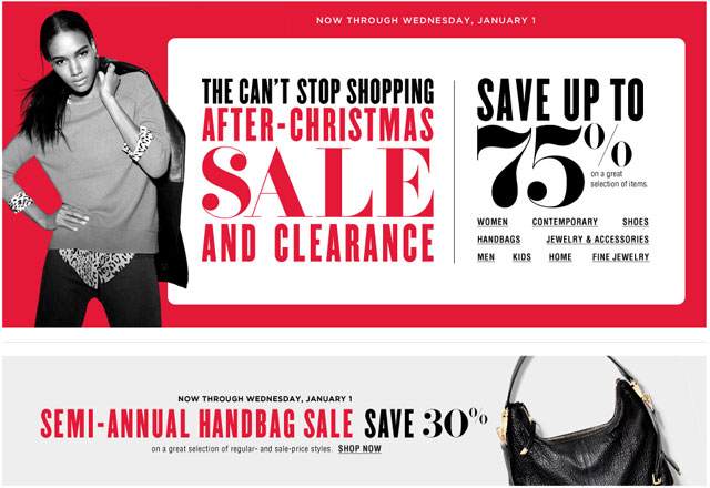 Bloomingdale's After Christmas Sale