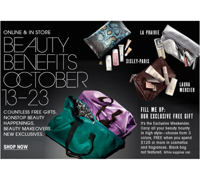 Bloomingdale's Beauty Benefit Event: 10/13 - 10/23