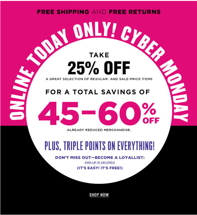 Bloomingdale's Cyber Monday Sale