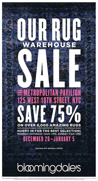 Bloomingdale's Rug Warehouse Sale