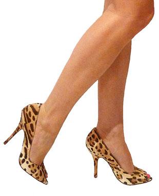 Blue Girl leopard print heels