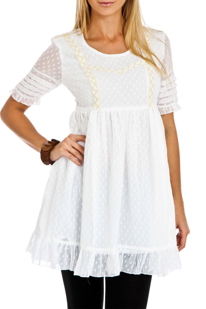 Blue Plate Baby doll Light embroidered junior dress (size XS-XL): $10