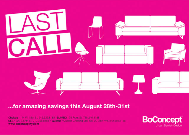 BoConcept LAST CALL Weekend Sale