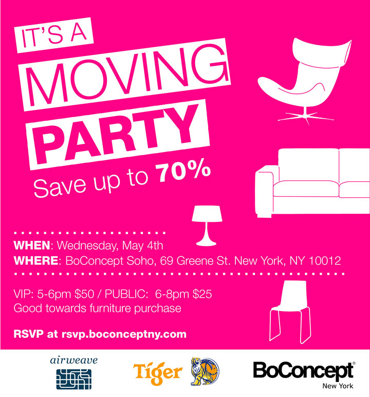 BoConcept SoHo Moving Party