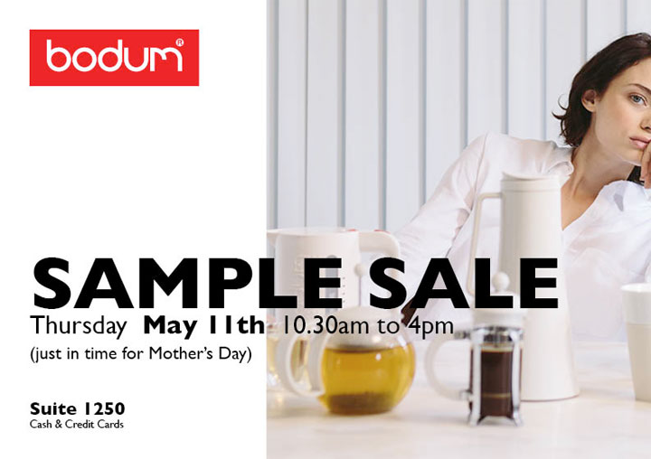 Bodum Kitchenware New York Mother's Day Sample Sale ...