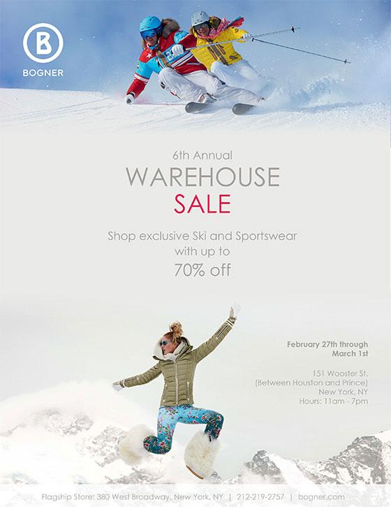 Bogner Annual Warehouse Sale