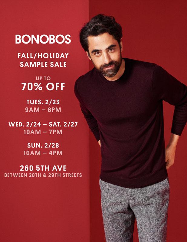 Bonobos Fall/Holiday Sample Sale