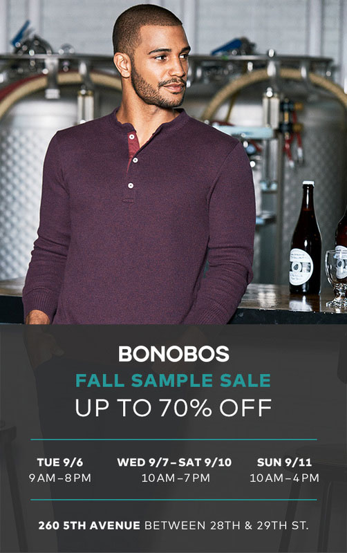 Bonobos Fall Sample Sale