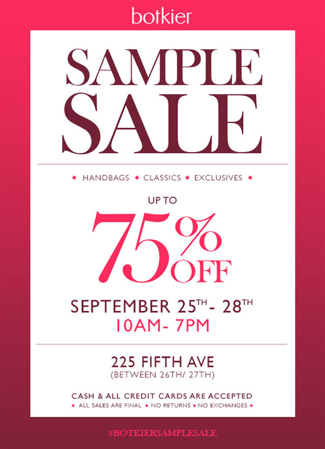 Botkier Annual Sample Sale