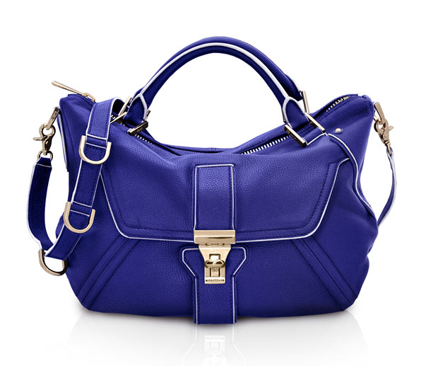 Botkier CAPRI Satchel in Sapphire - MSRP: $495/ Sale Price: $125 - 75% OFF