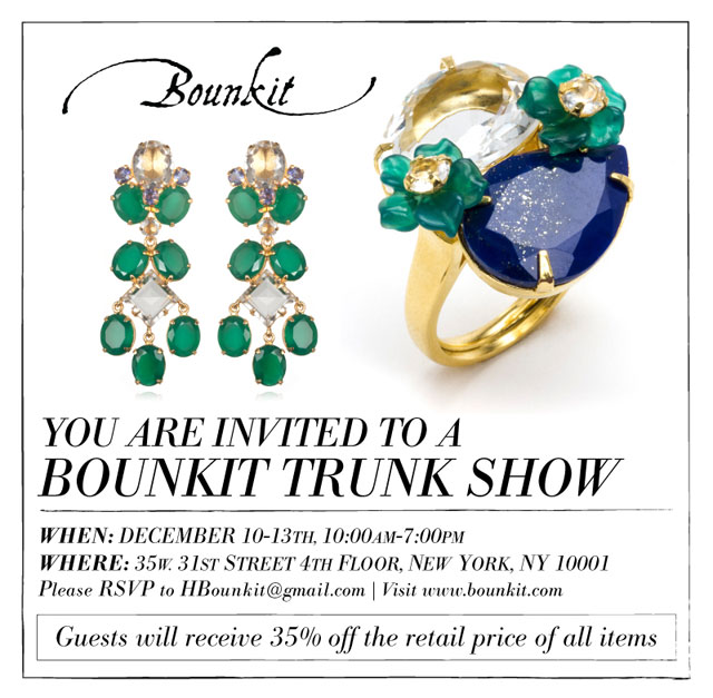 Bounkit Jewelry Holiday Trunk Show