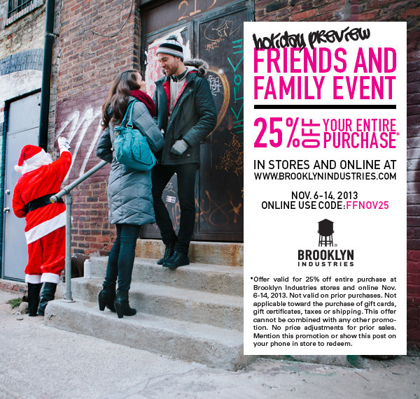 Brooklyn Industries Friends and Family Sale